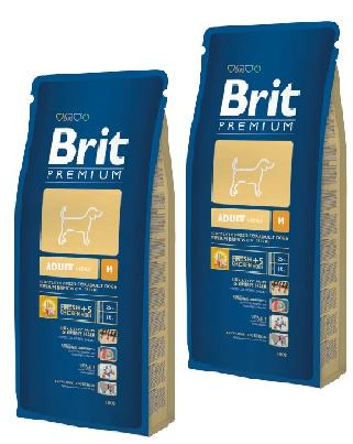 2 x Brit Premium Adult MEDIUM 15 kg